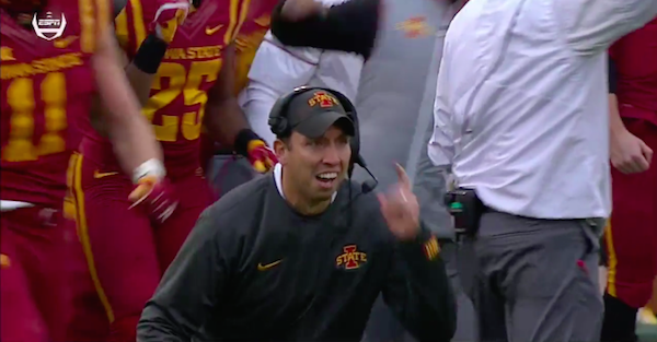 College coach gets a little NSFW after game-tying touchdown