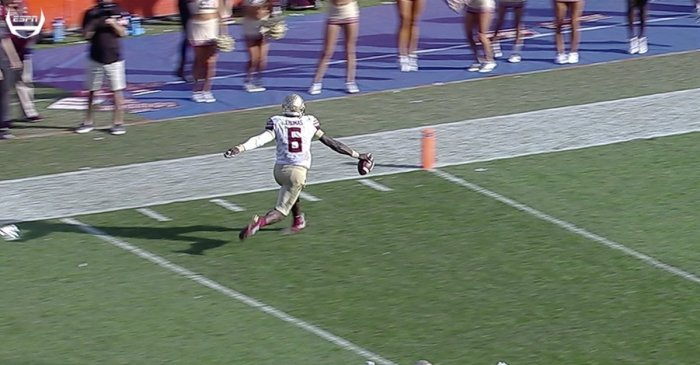 Florida State player unbelievably didn't score wide-open TD against Florida