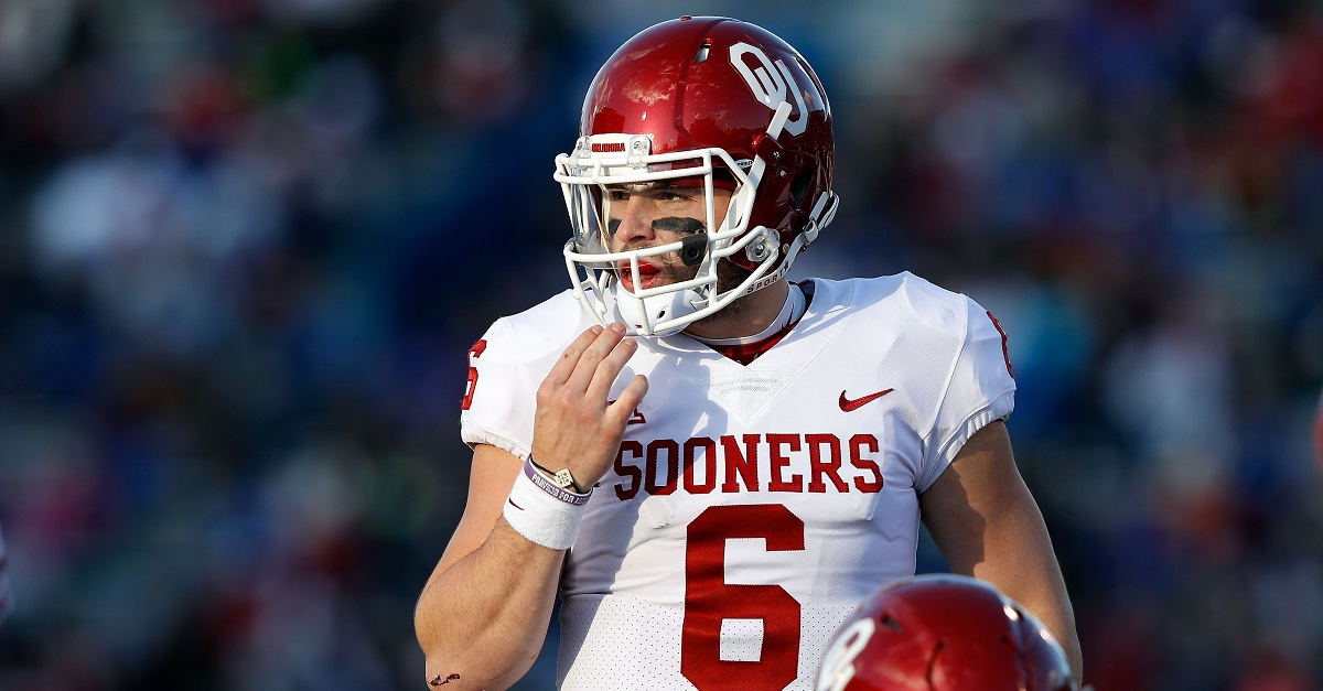 Oklahoma hands down punishment for Baker Mayfield after NSFW message against opponent