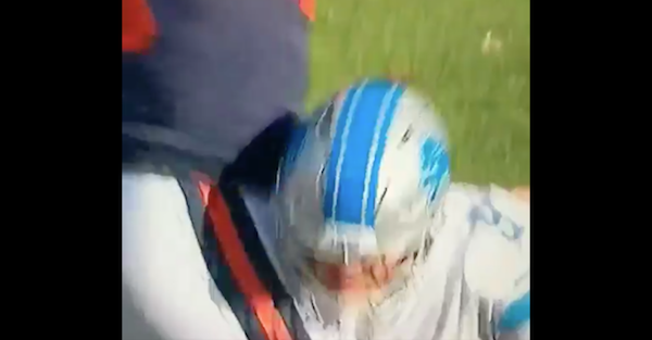 Matthew Stafford had the most pitiful attempt to draw a penalty against a defender