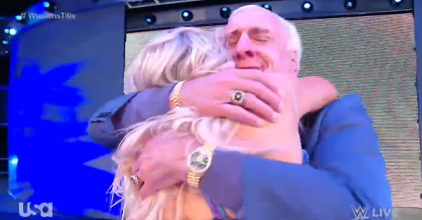 Ric Flair makes his triumphant return after Charlotte wins Smackdown Women's Championship