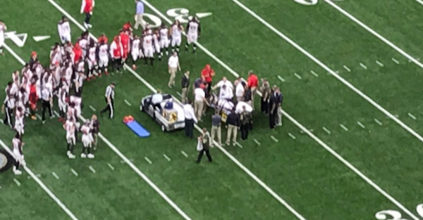 NFL starter's neck was immobilized as he was carted off the field
