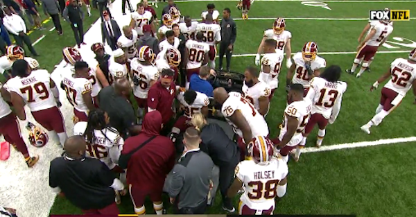 NFL RB done for the year after brutal injury forced him to be carted off the field