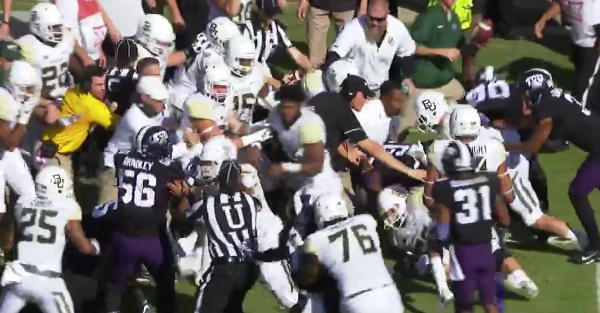 Here's the bench-clearing brawl that caused everyone to get an unsportsmanlike conduct penalty
