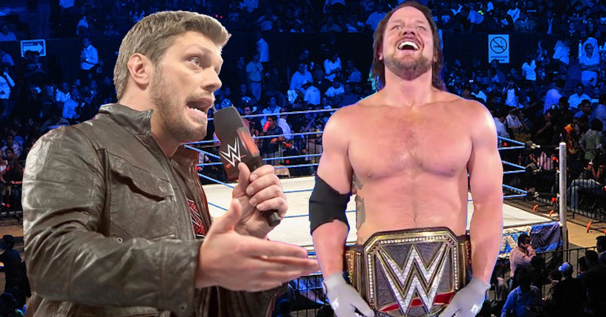 Hall of Famer Edge speculates on why WWE flipped title from Jinder Mahal to AJ Styles