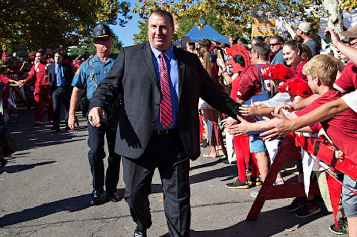 Bret Bielema is making out like a bandit with his buyout total from Arkansas