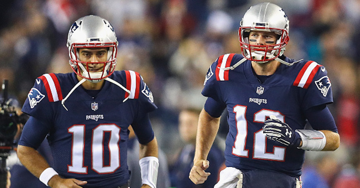 Patriots QB Tom Brady finally speaks out on traded quarterback Jimmy Garoppolo