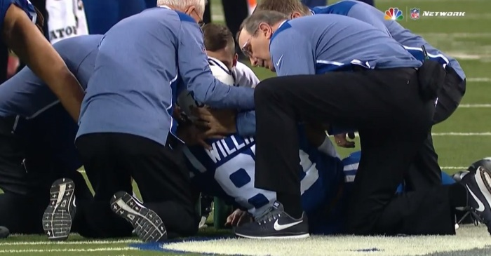 Another NFL player was left motionless on the field following a scary hit