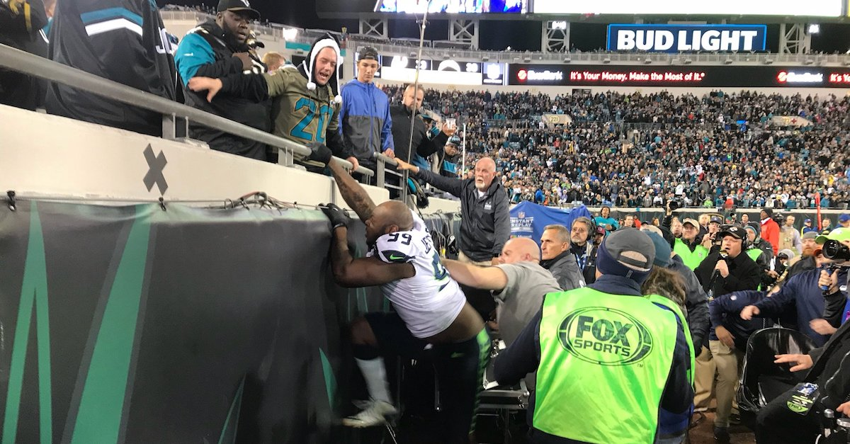 Seahawks melt down in loss to Jaguars with ejections, one player attempting to fight fans in the stands