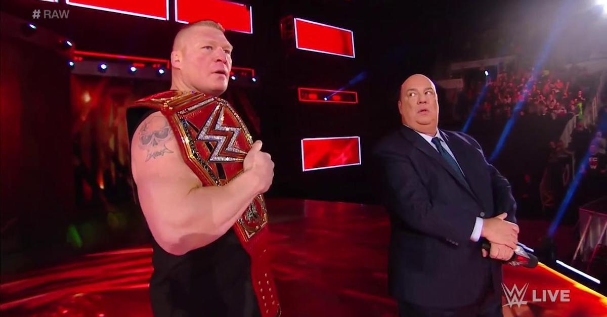 Brock Lesnar 2018 Royal Rumble Braun Strowman Kane Universal Championship