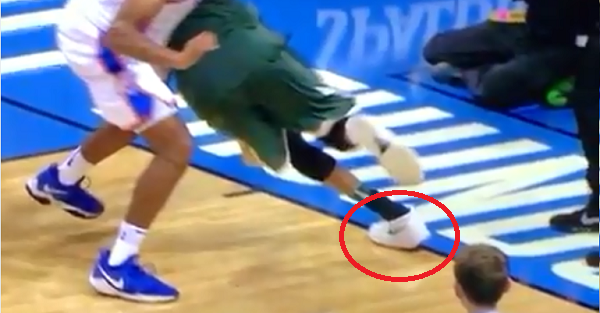 Refs missed an obvious out of bounds call on the Greek Freak's game-winning dunk