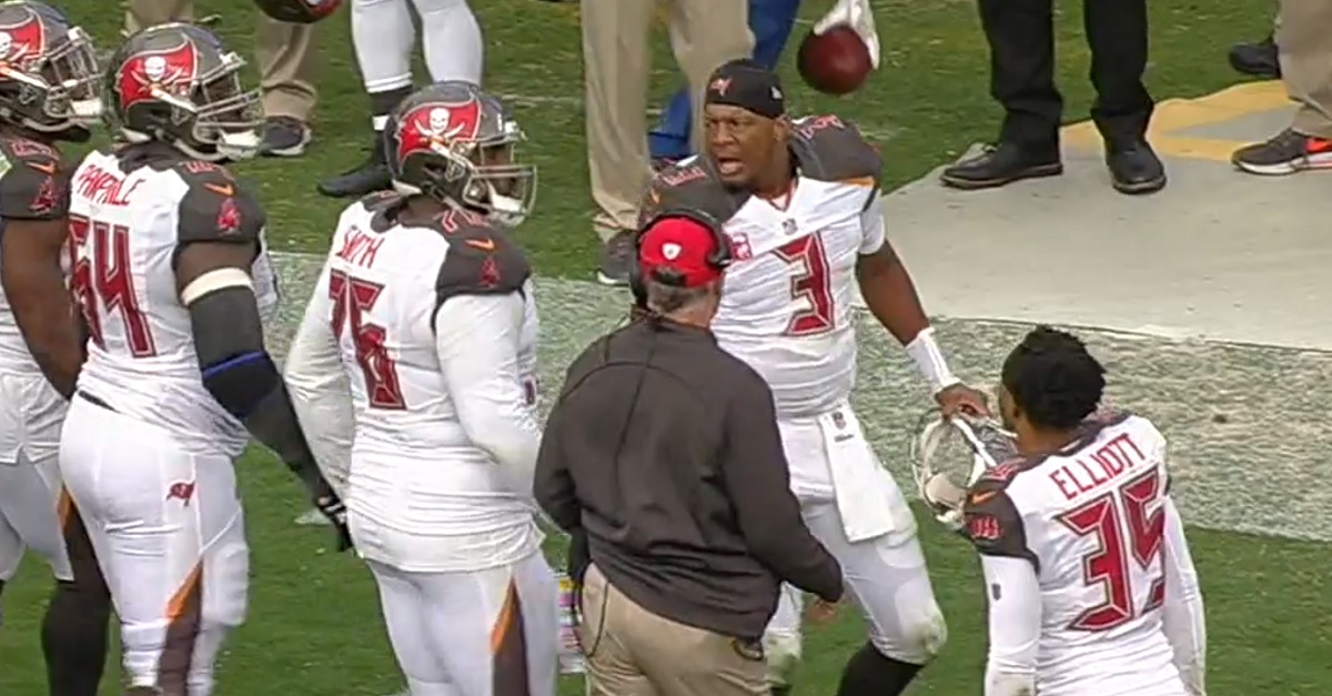 Jameis Winston goes berserk as his Bucs blow a lead against the Panthers