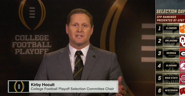 Playoff chairman Kirby Hocutt explains why Alabama is in over Ohio State
