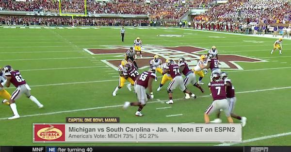 ESPN spent an entire segment talking about a nonexistent bowl matchup