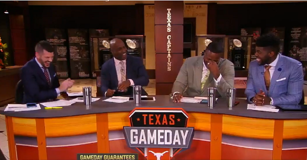 Controversial Heisman winner accidentally causes the entire ESPN set to break down in laughter
