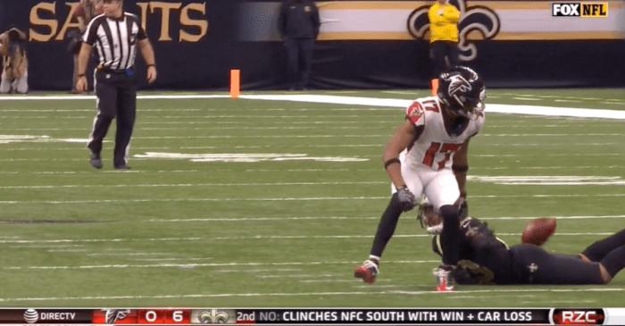 Christmas Eve NFL slate gives us a fantastic butt interception