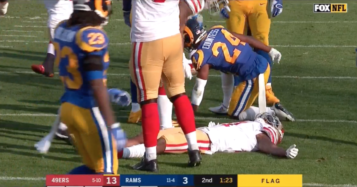 NFL wideout carted off the field after suffering horrifying injury