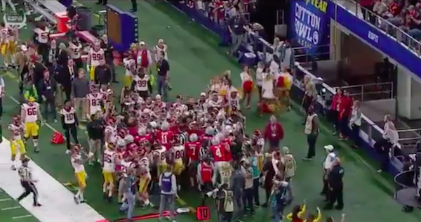 USC and Ohio State's Cotton Bowl scuffle gave us one of the weirdest scenes of the season