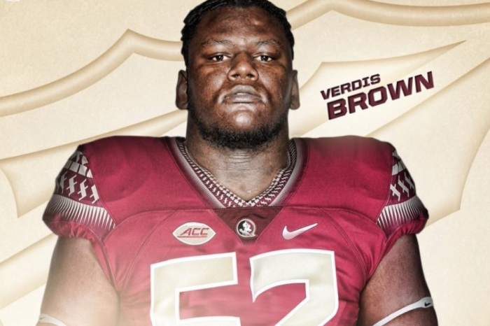 Top-ranked center Verdis Brown has found a new school after decommitting from FSU