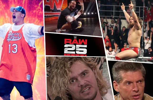 Top 25: The best moment from every year during Raw's 25-year run