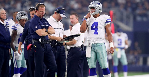 Dallas head coach Jason Garrett comments on Dak Prescott's future with the Cowboys