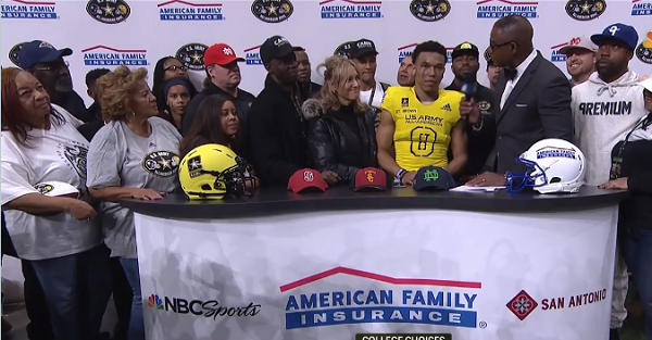 Five-star WR Amon-Ra St. Brown snubs Notre Dame with Army Bowl decision