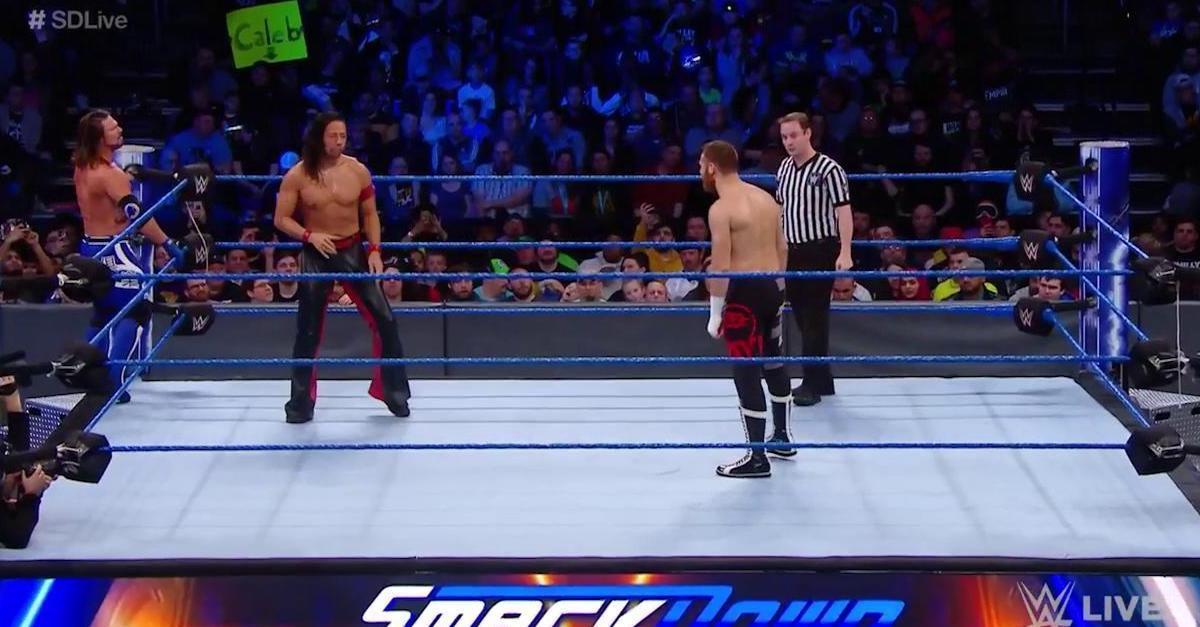 Sami Zayn Kevin Owens Shinsuke Nakamura AJ Styles 1/30/18