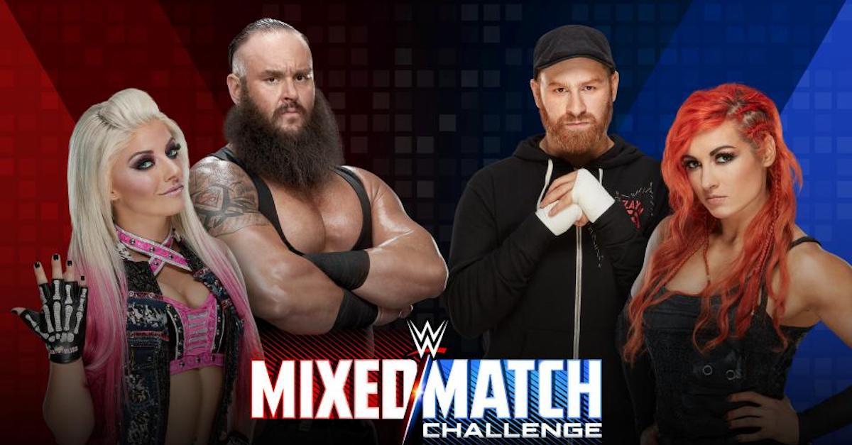 WWE Mixed Match Challenge Sami Zayn Becky Lynch Braun Strowman Alexa Bliss