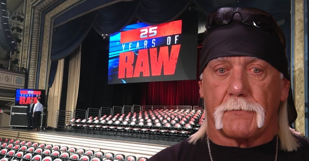 Hulk Hogan sent an emotional message after watching Raw's 25th anniversary go off the air