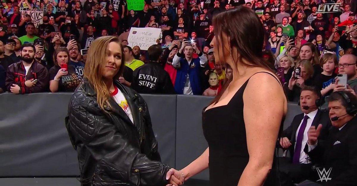 Ronda Rousey Stephanie McMahon WrestleMania 34 Royal Rumble 2018