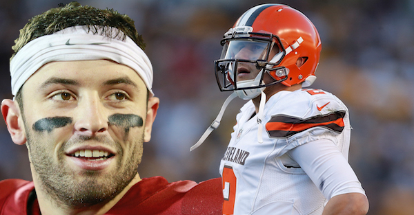 "Baker Mayfield pushes back on ""bad boy"" Johnny Manziel comparison"