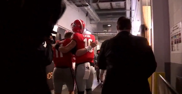 Georgia's Jacob Eason showed he was all class after a devastating loss in National Championship Game