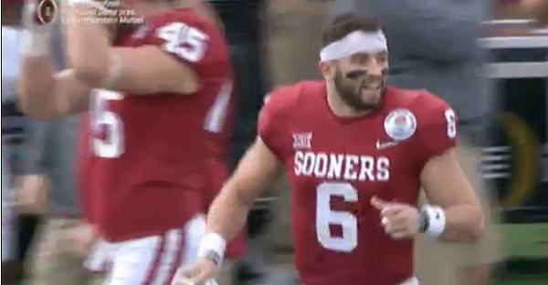 Baker Mayfield will regret early game gesture after Georgia comes back to win in Rose Bowl