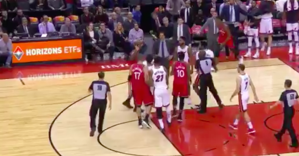Players trade blows, are both ejected during Raptors-Heat game