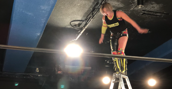 Pro wrestler reportedly had match stopped, taken off by stretcher after horribly botched ladder spot