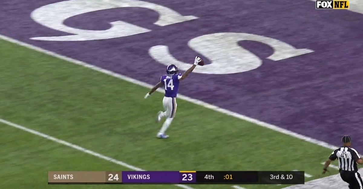 The Vikings halt the Saints' comeback attempt with incredible game-winning TD