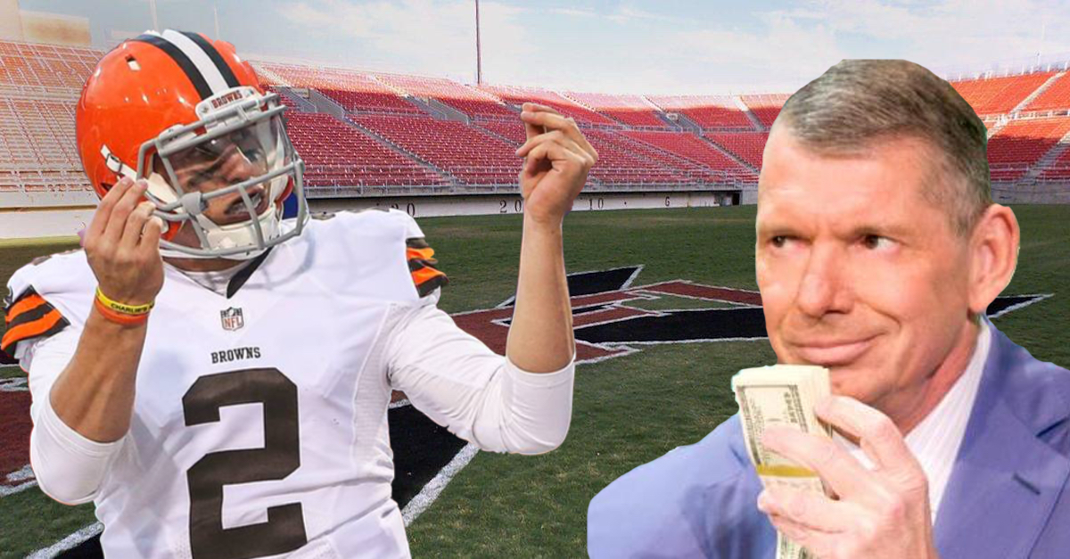 Vince McMahon's No. 1 target for relaunched XFL is reportedly none other than Johnny Manziel