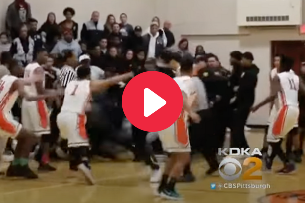 HS Basketball Punches Spark 60-Person Brawl, Game Ends Immediately