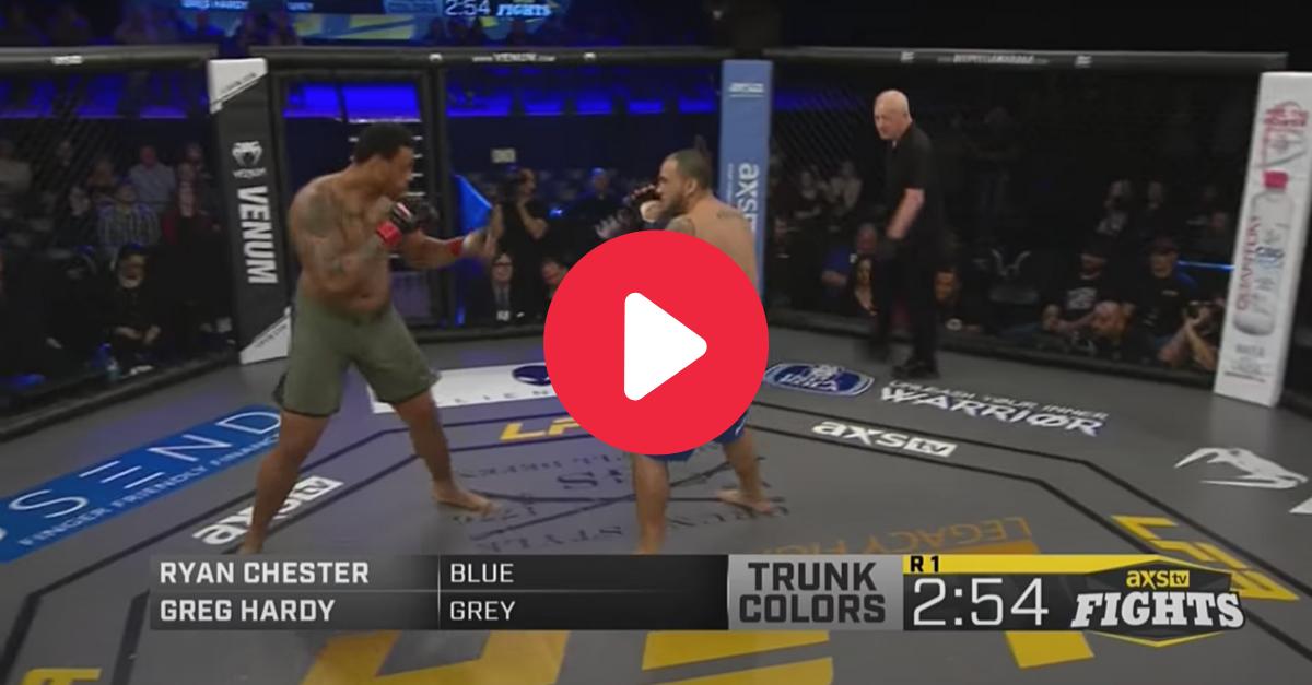 Greg Hardy's 14-Second KO Kept Unbeaten MMA Streak Alive