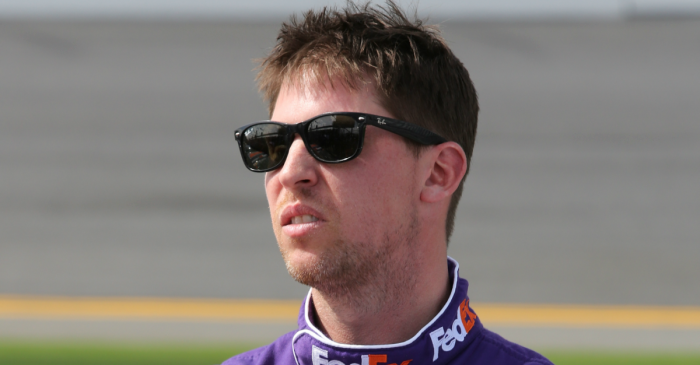 """Denny Hamlin fans the flames of a NASCAR feud by clueing in the """"idiots"""""""