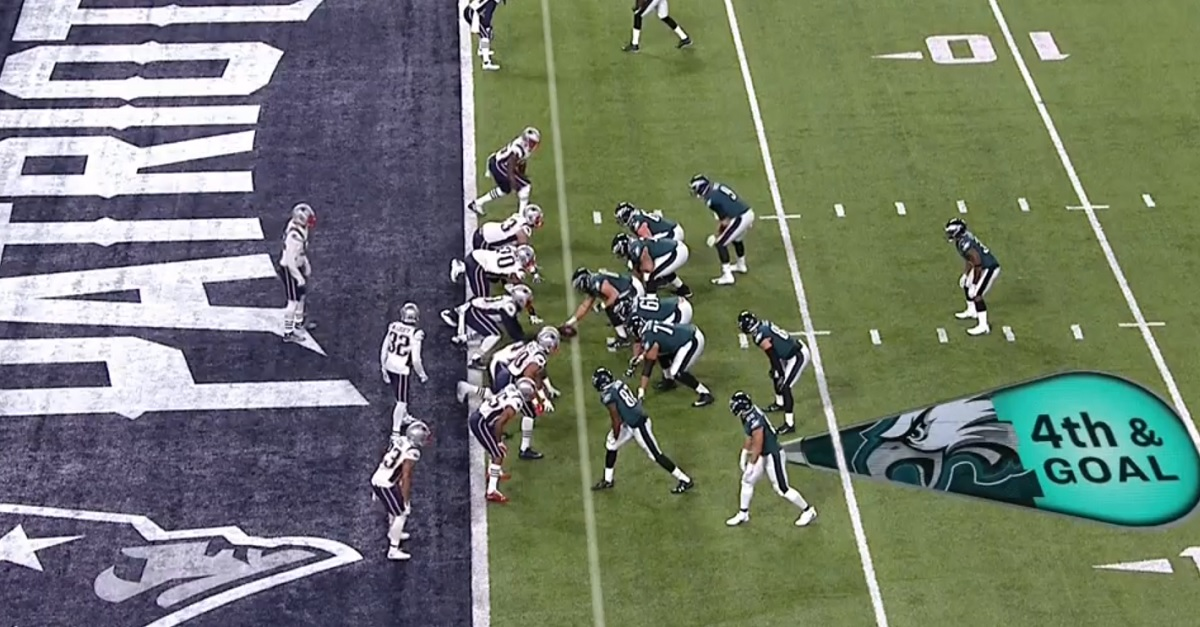 "Controversial Eagles Super Bowl touchdown ""should've been called"" penalty"