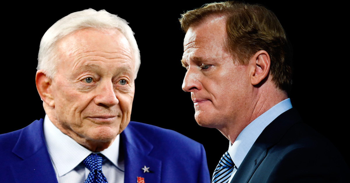 NFL Commissioner Roger Goodell Jerry Jones Cowboys