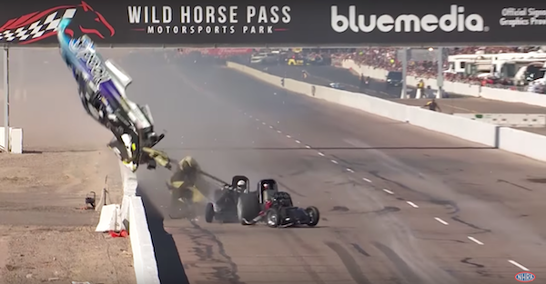 NHRA legend hospitalized after being involved in a scary wreck