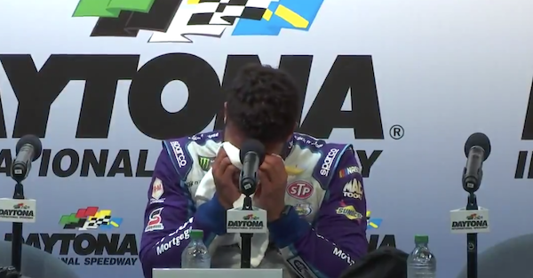 Bubba Wallace can't keep it together after an emotional Daytona 500