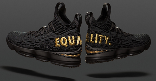 "Here's how you can get a limited pair for the LeBron 15 ""EQUALITY"" shoes"