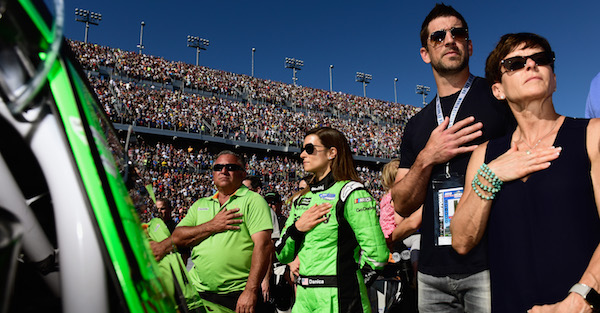 Comments about the NFL from Danica Patrick's family could cause issues with Aaron Rodgers