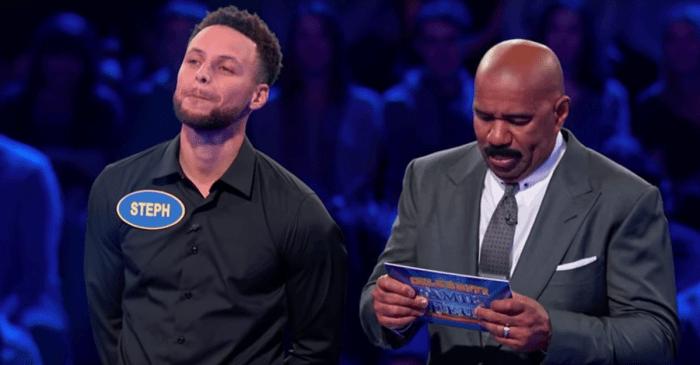 Steph Curry, Chris Paul Clash on Celebrity Family Feud