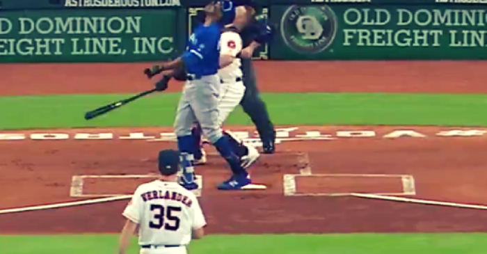 WATCH: Curtis Granderson's Foul Ball That Never Lands in Houston