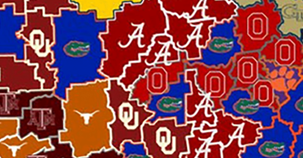 College Football Map Risk