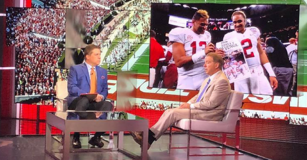 Nick Saban Gives His Quarterback Duo 1 Piece of Advice